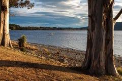 TE ANAU, FIORDLAND/NUOVA ZELANDA - 17 FEBBRAIO: L'idrovolante ha attraccato la a fotografia stock