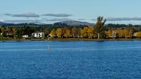 Te Anau lake. The Te Anau lake in Autumn at the southisland, New Zealand Stock Photo