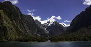 Te anau New Zealand boat trip. Glacier to river view Stock Photos