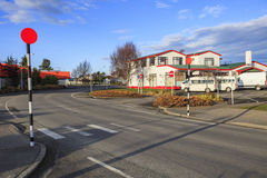 Te anau town important traveling center in south island new zeal Stock Photos