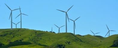 Te Apiti Wind Farm in Palmerston North, New Zealand. PALMERSTON NORTH, NZL - DEC 03 2014:Wind turbines in Te Apiti Wind Farm.The $100 million wind farm consists Stock Images