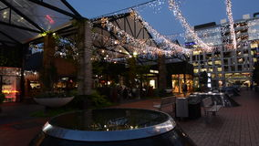 Te Ara Tahuhu Walking Street, Britomart, Auckland New Zealand stock video footage