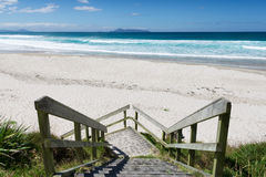 Te Arai Beach. Summer at Te Arai Beach, New Zealand Stock Photo