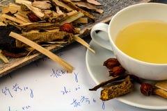 Te av?? traditionell kinesisk medicin Royaltyfria Bilder