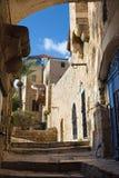 Te Aviv - Weinig doorgang van oude Jaffa Stock Fotografie