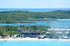 The beach at Half Moon Cay Stock Photography