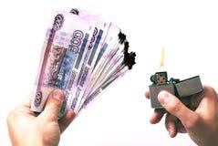 Te branden geld Royalty-vrije Stock Foto