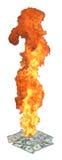 Te branden geld Stock Afbeelding