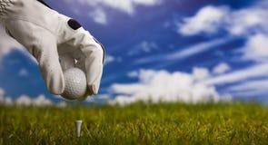 Te de golf Fotografía de archivo
