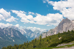 Te Dolomites. The Dolomite Mountains in Italy Royalty Free Stock Images