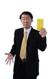 Te donnant une carte d'avertissement Photo libre de droits