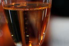 Te för en flÔ av Champagnerosen royaltyfria bilder