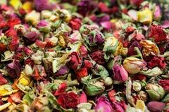 Te för röda rosor Arkivbilder