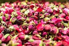 Te för röda rosor Arkivfoton