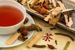 Te för traditionell kinesisk medicin Arkivbild