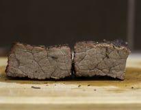 Te gaar gekookt rundvlees stock fotografie