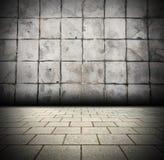 te gris de conception de lumière de faisceau de fond du mur de briques 3D illustration libre de droits