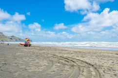 Te Henga (playa de Bethells) es una comunidad costera en la región de Auckland en el norte de la isla del norte, Nueva Zelanda Fotos de archivo libres de regalías