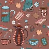 Te, kaffe och sötsaker Royaltyfri Foto