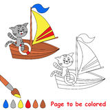 Te kleuren pagina Stock Fotografie