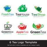 Te Logo Template Design Vector Stock Illustrationer