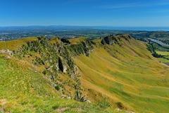 Te Mata Peak e paisagem circunvizinha em Hastings, Nova Zelândia imagens de stock