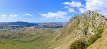 Te Mata Peak i Nya Zeeland arkivbild