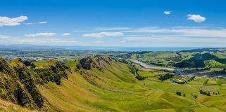 Te Mata Peak till Napier royaltyfria bilder