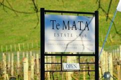 Te Mata Winery New Zealand images libres de droits