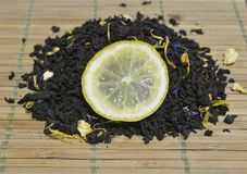 Te med citronen Royaltyfria Foton