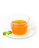 Te med citronen och mintkaramellen Fotografering för Bildbyråer