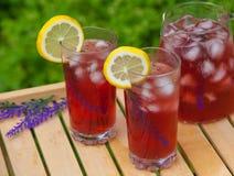 Te med citrus lavendel Arkivbild
