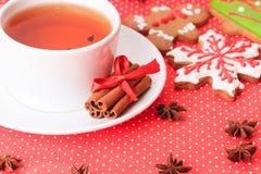 Te och julkakor Arkivbild