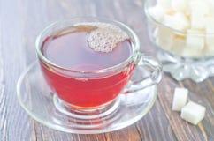 Te och socker royaltyfri fotografi