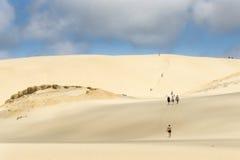 Te Paki沙丘,极大的白色沙丘一喜爱的旅游attr 免版税库存图片
