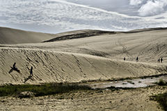 Te Paki Giant Sand Dunes. At the northern end of the 90 Mile Beach Royalty Free Stock Image