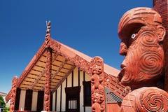 Te Papaiouru Marae, Rotorua, Новая Зеландия - 11-ое ноября Стоковое фото RF