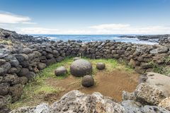 Te-Pito-Te-Henua the navel of the world stock images