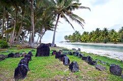 Te-Poaki-O-Rae dans le cuisinier Islands de lagune d'Aitutaki Photos libres de droits