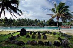 Te-Poaki-O-Rae no cozinheiro Islands da lagoa de Aitutaki Imagens de Stock
