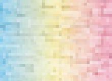 Te quadrado geométrico das telhas de mosaico da cor azul amarela cor-de-rosa abstrata Fotos de Stock Royalty Free