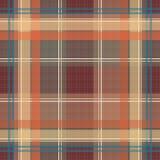 Te quadriculado do teste padrão da manta da textura da tartã retro sem emenda de matéria têxtil Imagem de Stock