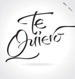 TE QUIERO hand lettering (vector) Royalty Free Stock Photos