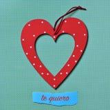 Te-quiero, ich liebe dich auf spanisch stockfotos