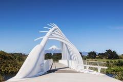 Te Rewa Rewa Bridge, nuovo Plymouth, Nuova Zelanda fotografia stock libera da diritti