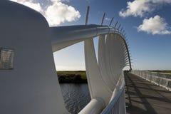 Te Rewa Rewa Bridge, one of the landmark at Coastal Walkway in New Plymouth, New Zealand. Royalty Free Stock Photography