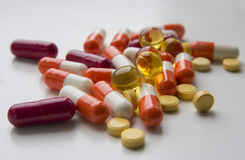 Medicaments dla różnorodność końcówek Zdjęcie Stock
