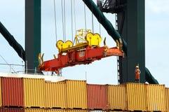 Te verschepen containers Stock Foto