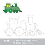 Te vinden locomotief Vectorspoorspel stock illustratie
