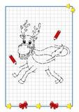 Te voltooien Kerstmis, het rendier Stock Fotografie